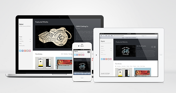 Digital Responsive WordPress Portfolio Design Theme
