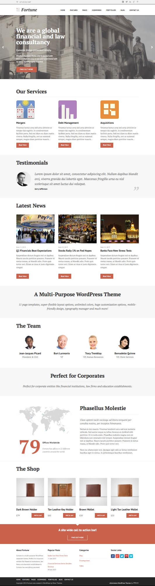 Fortune WordPress Small Businesses Theme