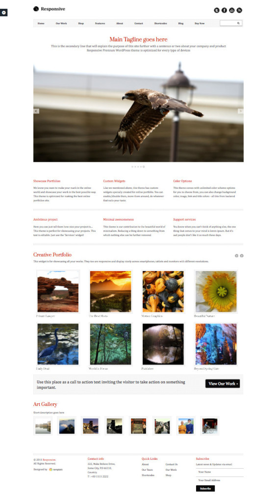 Responsive 2 WordPress Versatile Portfolio Management Theme