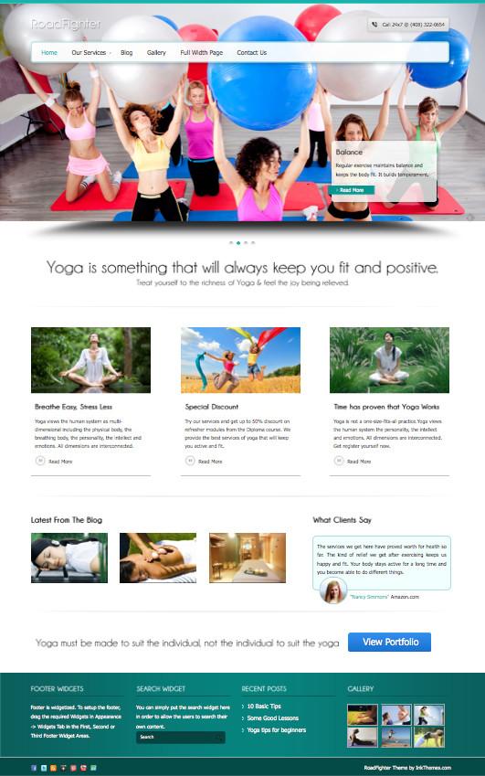 RoadFighter WordPress Yoga Business Theme