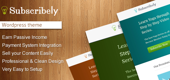 Subscribely WordPress Sell Content Theme