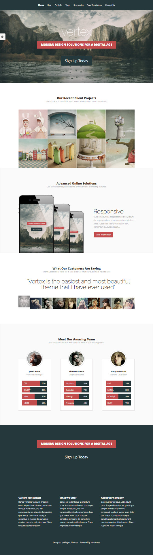 Vertex WordPress Portfolio Theme