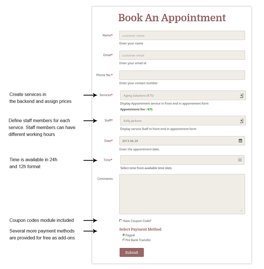 Appointy WordPress Online Booking Form Plugin
