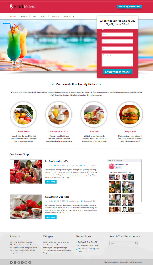 BlackRiders WordPress Business Lead Generating Theme