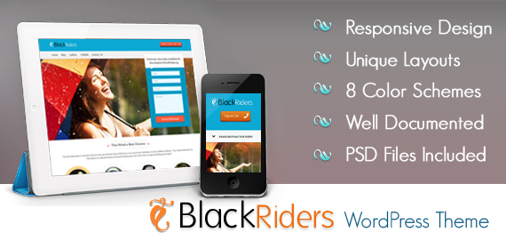 BlackRiders WordPress Lead Generating Theme