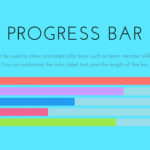 Flat WordPress Animated Progress Bar Theme