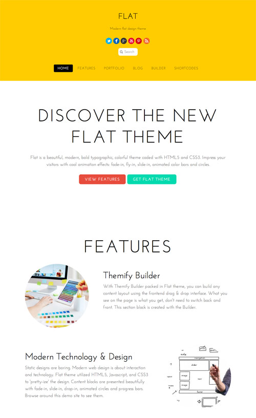 Flat WordPress iOS7 Design Bold Theme
