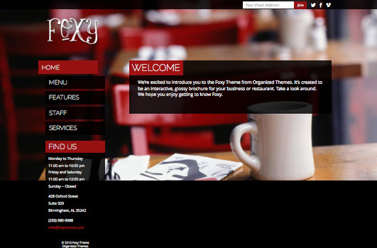 Foxy 2.0 WordPress Restaurants & Barber Shops Theme