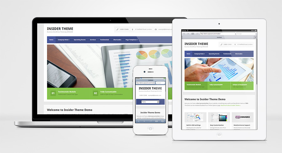 Insider Responsive WordPress Business Services Theme