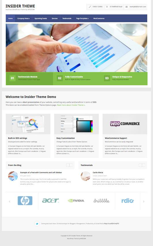Insider WordPress Business + eCommerce Theme