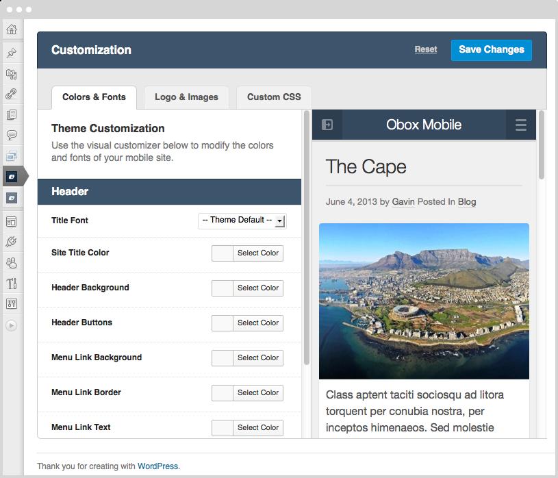 Obox Mobile 2 WordPress Plugins Improved