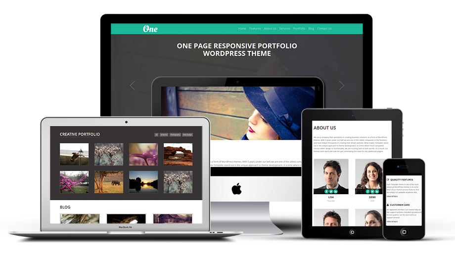 OnePager WordPress One Page Portfolio Theme