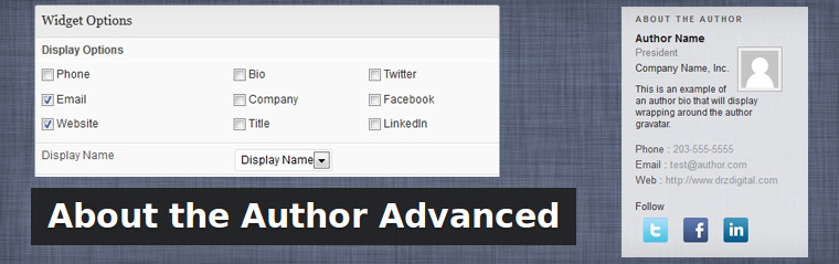 Advanced Author List: