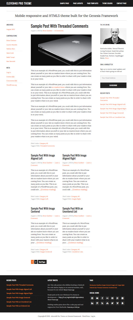 Eleven40 WordPress Bold Theme