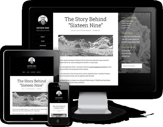 Sixteen Nine Responsive HTML5 WordPress Theme