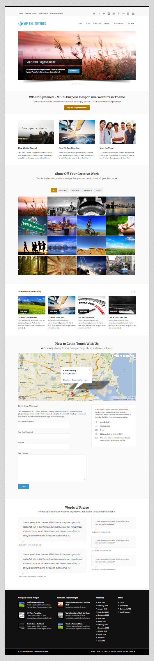 WP Enlightened Responsive Multi-Purpose Theme