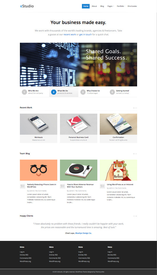 eStudio WordPress Portfolio Studios Theme
