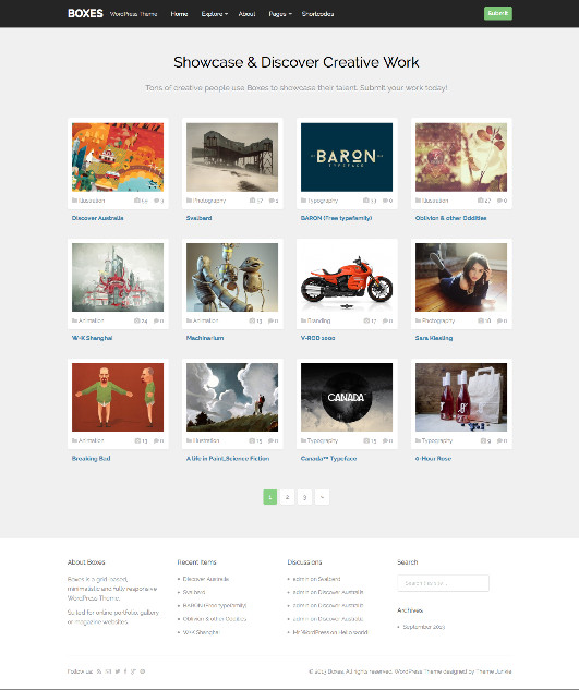 Boxes WordPress Grid Based Theme