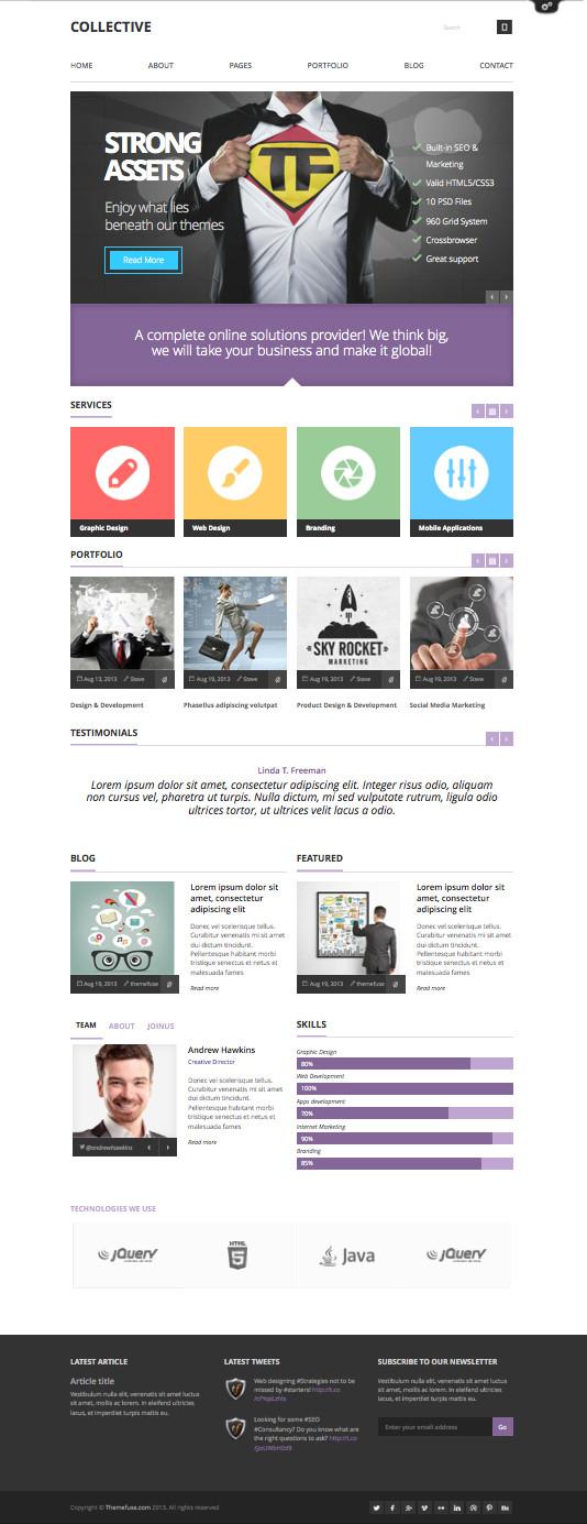 Collective WordPress Business Portfolio Theme
