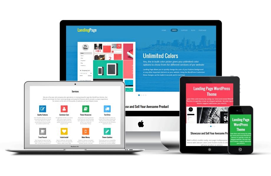 Landing Page Responsive WordPress One Page Theme