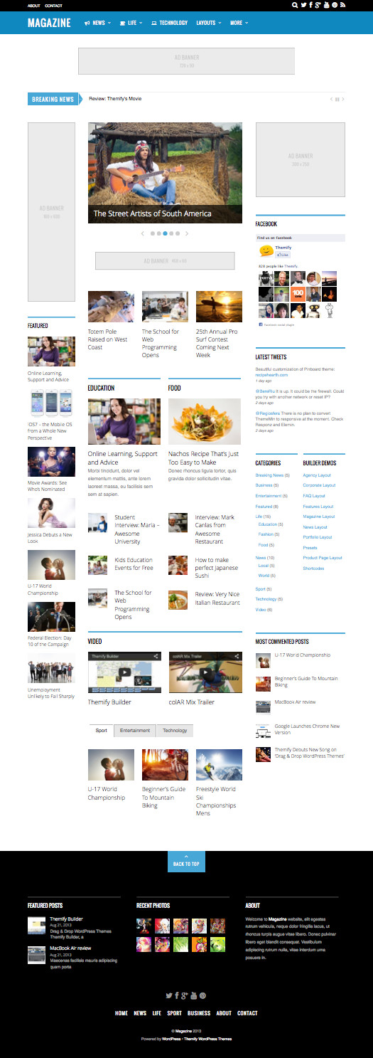 Magazine WordPress CNN, MSN & BBC Theme