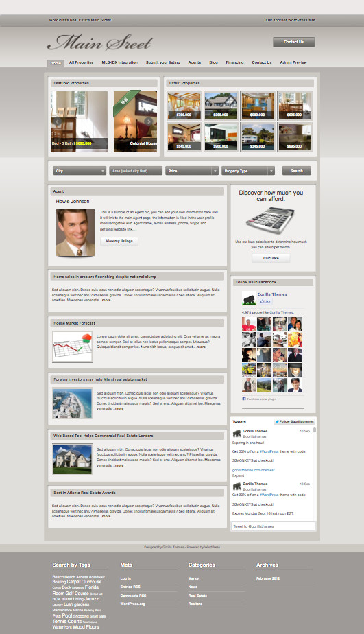 Main Street WordPress Real Estate Theme