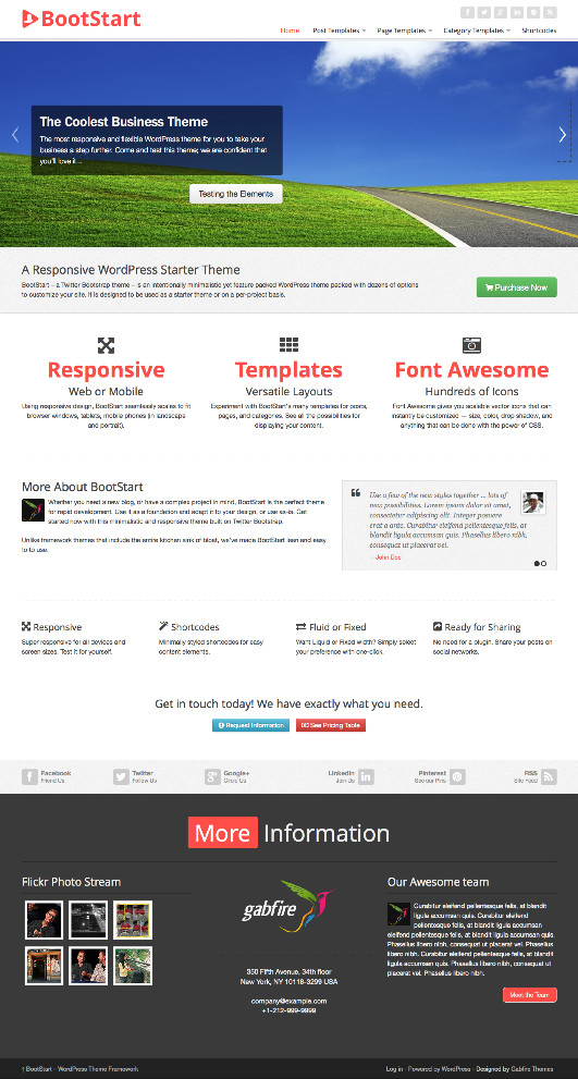 BootStart WordPress Business Theme