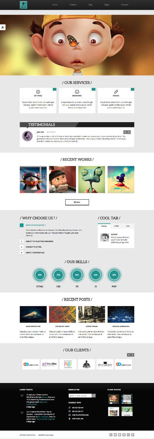 Electra WordPress Creative Agency Theme