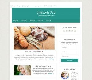 Lifestyle Pro WordPress Magazine Style Theme
