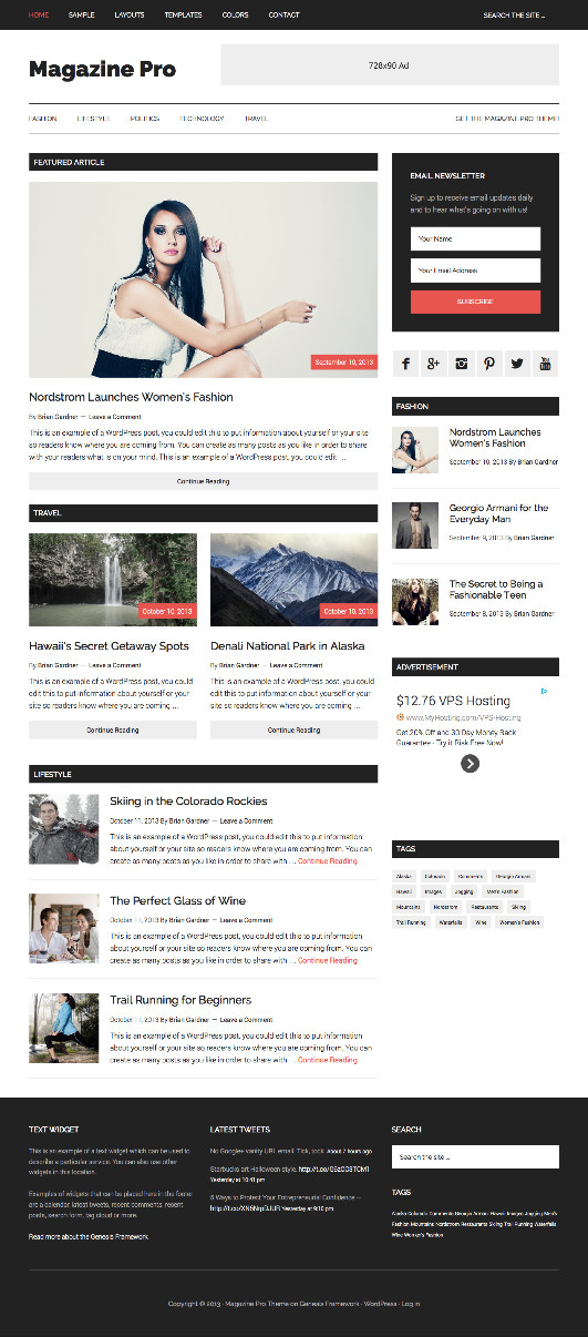 Magazine Pro Responsive WordPress Mag Theme