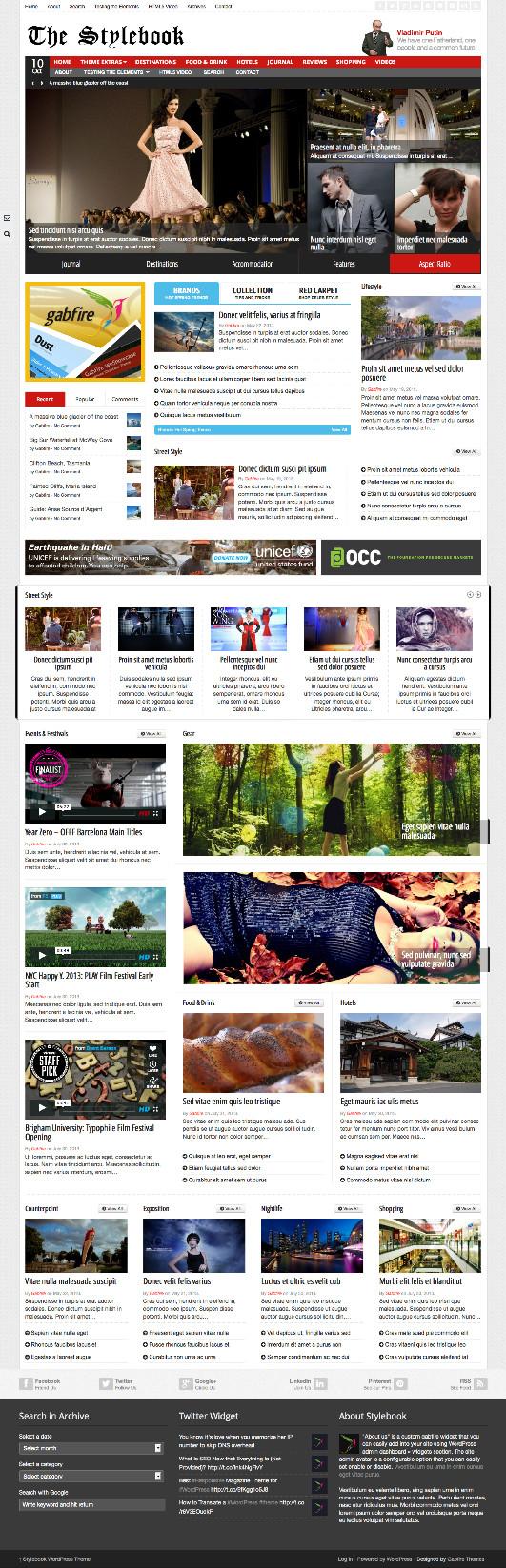 Stylebook WordPress Magazine Theme
