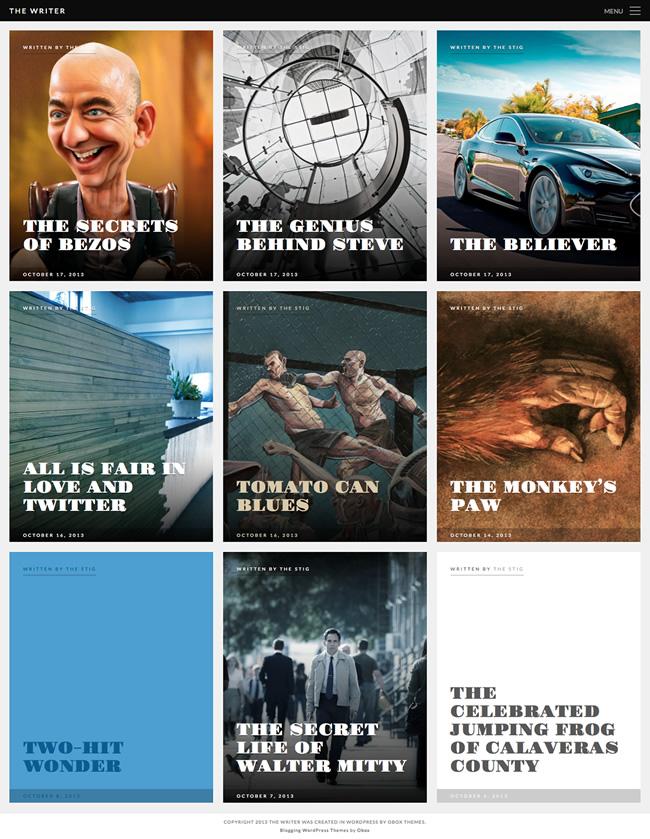 The Writer WordPress Authors Theme