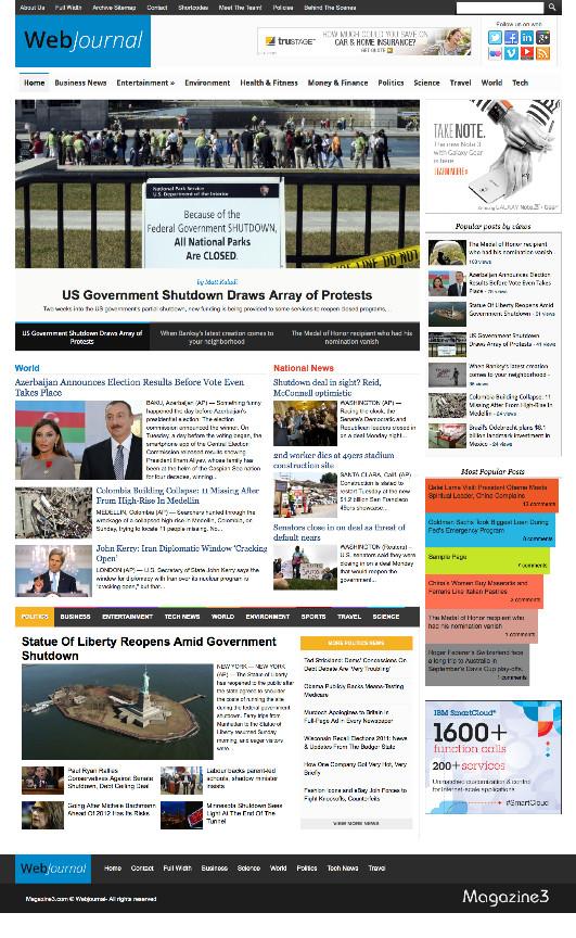 Web Journal Responsive WP Newspaper Theme