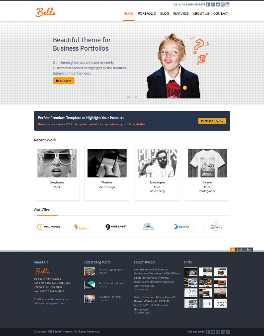 Belle WordPress Multi-Purpose Theme