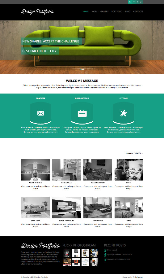 Design Portfolio WordPress Gallery Theme