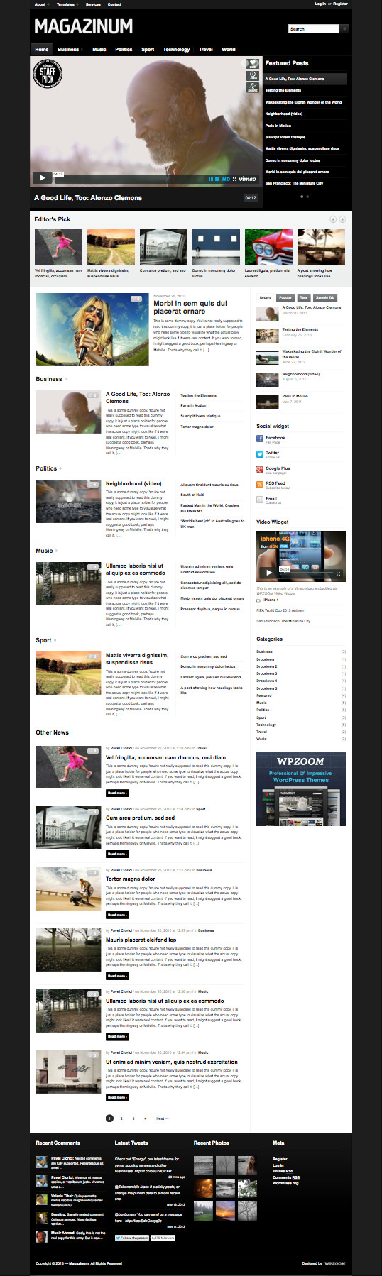 Magazinum 3.0 WordPress Theme