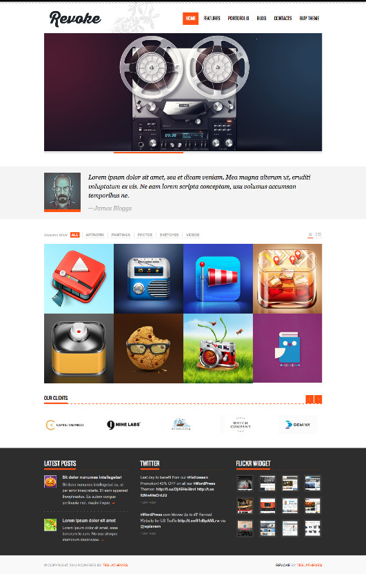 Revoke WordPress Business Theme