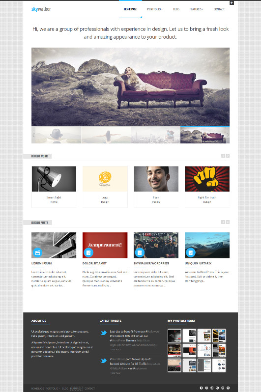 SkyWalker WordPress Creative Agency Theme
