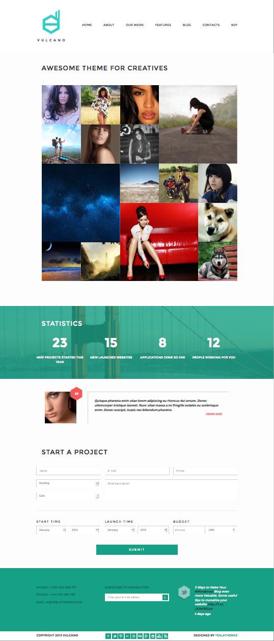 Vulcano WordPress Creative Agency Theme