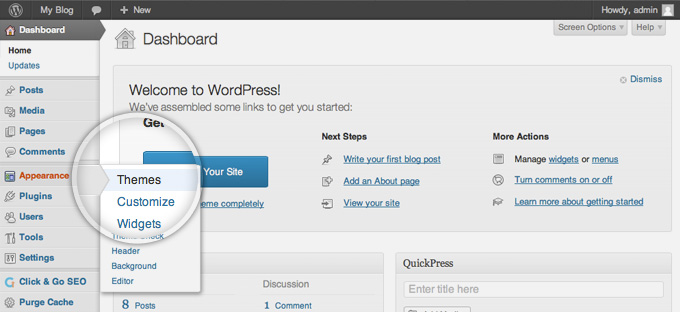 How find and install WordPress Theme for your site?