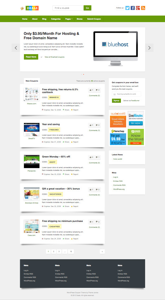 Deals WordPress Coupon Site Theme