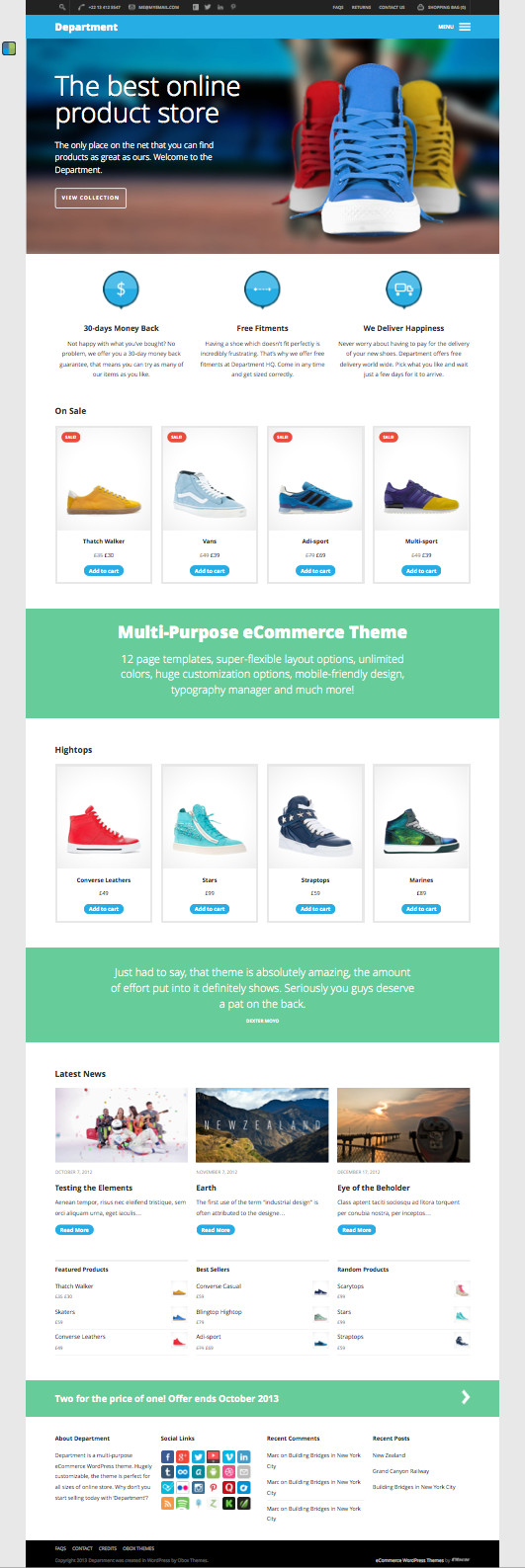 Department WP Business Theme