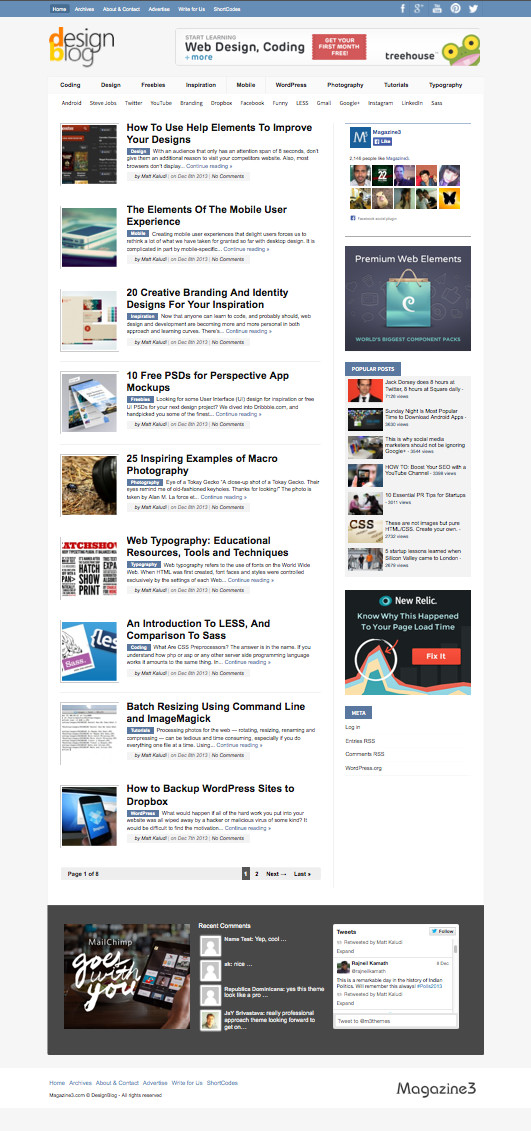 DesignBlog WordPress Tech Magazine Theme