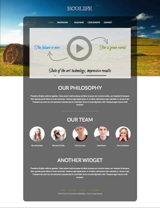 Ecolife WordPress Non-Profit Business Theme