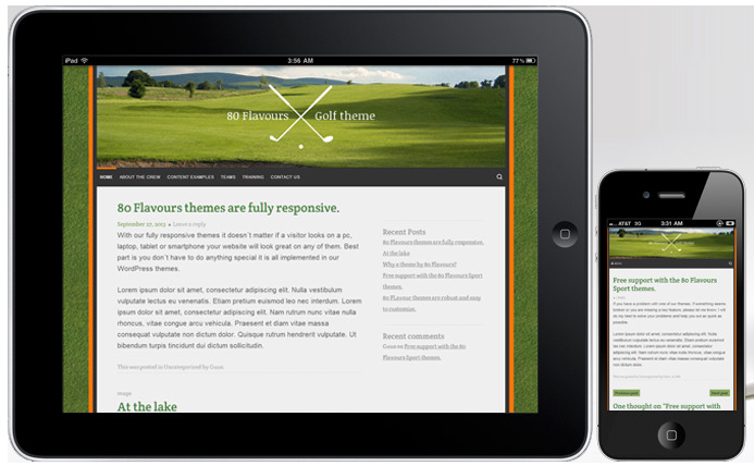Golf Course Fan Blog Theme