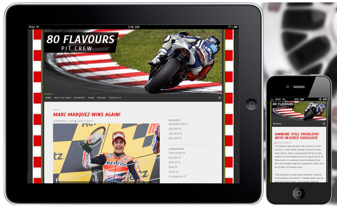 MotorSport WordPress Theme