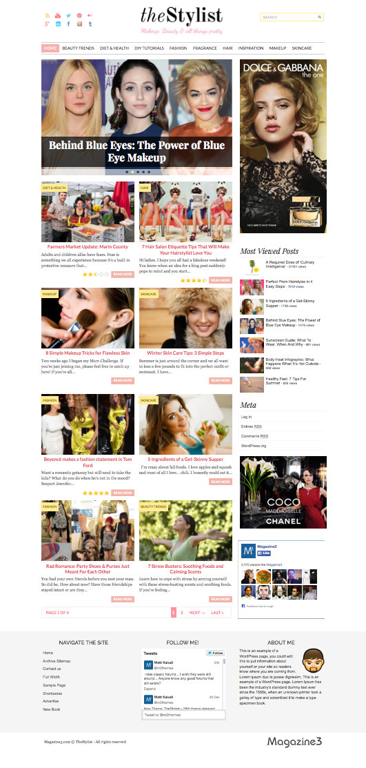 TheStylist WordPress Feminine Blog Theme