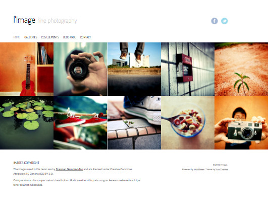 lImage WordPress Photography Theme