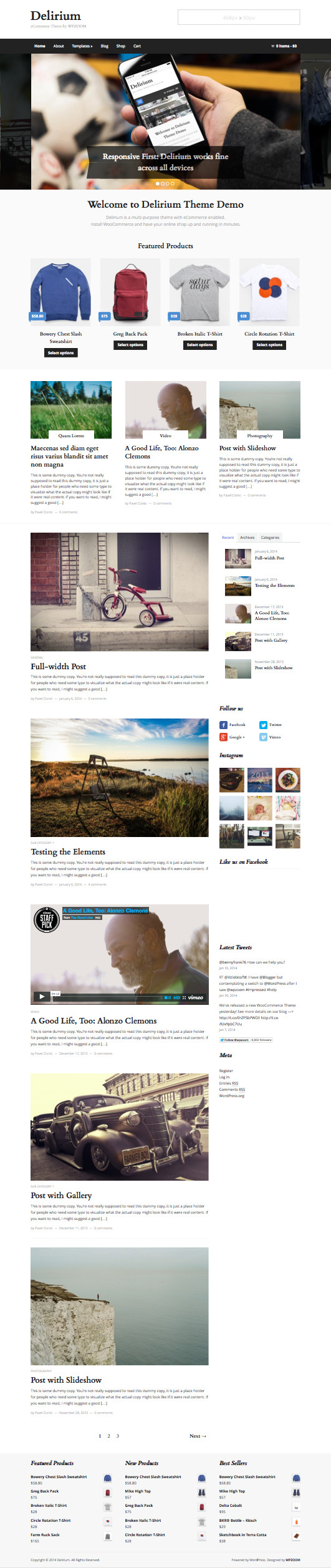 Delirium WordPress eCommerce Business Theme