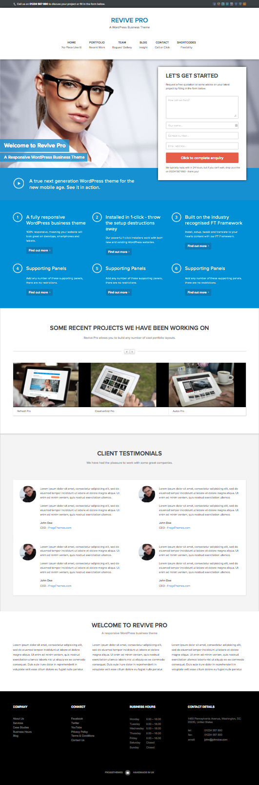 Revive Pro Responsive WordPress Business Theme